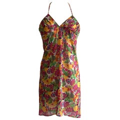 Christian Dior Floral Print Convertible Skirt or Tunic Swim Coverup