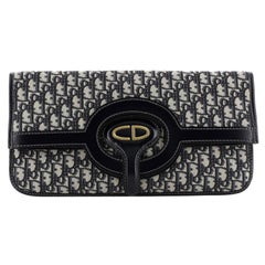 Christian Dior Fold Over Clutch Oblique Canvas