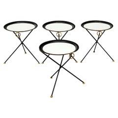 Christian Dior Folding Metal Side Tables