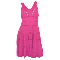 Christian Dior Fuchsia Fit and Flare Dress