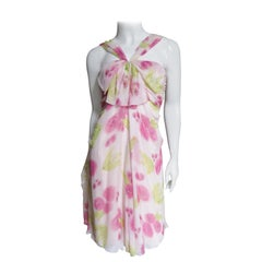Christian Dior Galliano Pink Silk Flower Dress