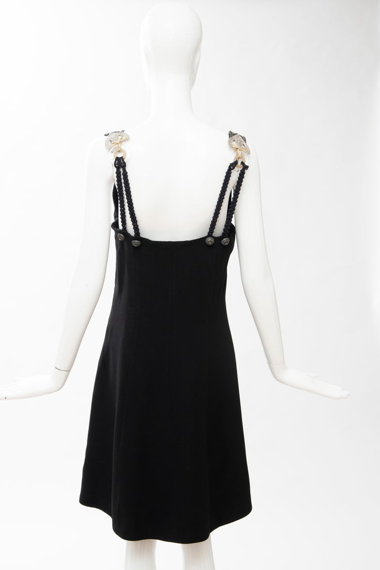 Christian Dior Gianfranco Ferré Numbered Black Embroidered Dress Ensemble, 1991 For Sale 6