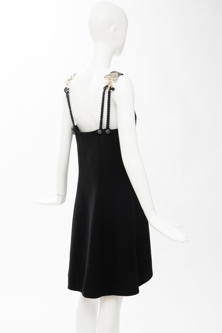 Christian Dior Gianfranco Ferré Numbered Black Embroidered Dress Ensemble, 1991 For Sale 14