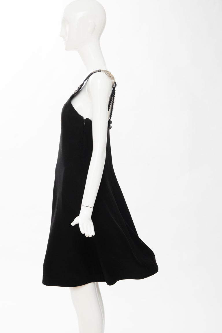 Christian Dior Gianfranco Ferré Numbered Black Embroidered Dress Ensemble, 1991 For Sale 15