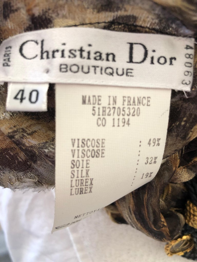 Christian Dior Gianfranco Ferre Numbered Demi Couture Leopard Print Silk Jacket 4