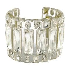 Christian Dior Gloria Jewelled Clear Prespex Cuff Bracelet