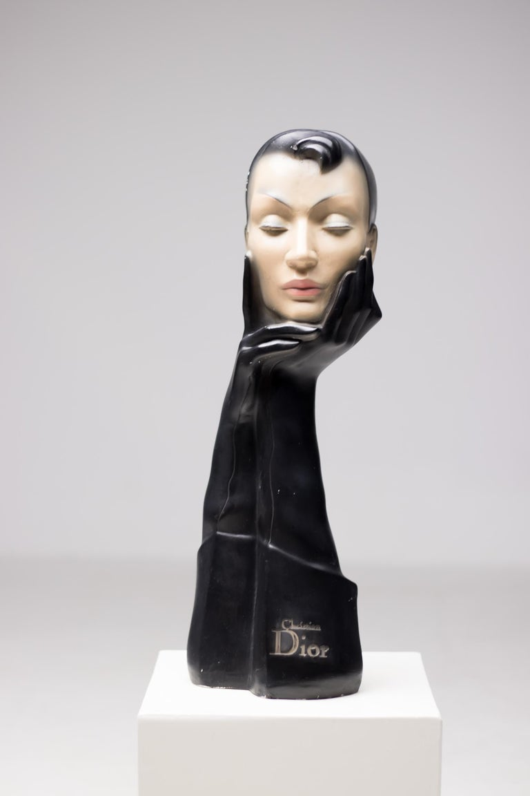 Mid-20th Century Christian Dior Gloved Mannequin Head
