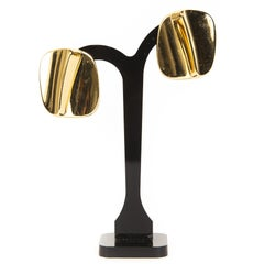 Christian Dior Gold Abstract Earrings
