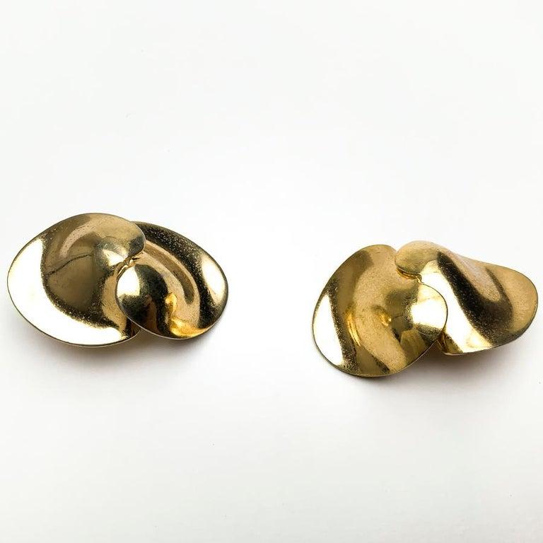 Women's CHRISTIAN DIOR Golden Clip-on Earrings For Sale