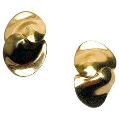 CHRISTIAN DIOR Golden Clip-on Earrings