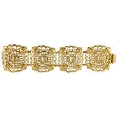 Christian Dior Goldtone Logo Bracelet 1980s