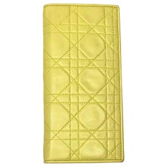 Christian Dior Green Lambskin Leather Wallet