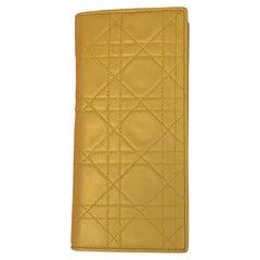 Christian Dior green lambskin long wallet