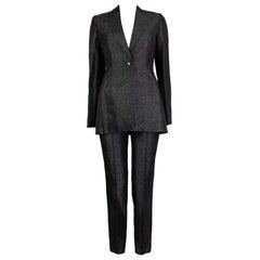 CHRISTIAN DIOR grey viscose & silk METALLIC Blazer Jacket 36 XS