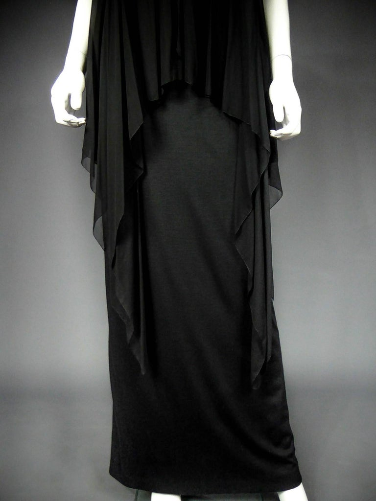 Black Christian Dior Haute Couture by Marc Bohan Circa 1975 For Sale