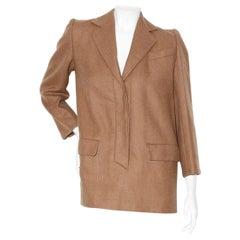 Christian Dior Haute Couture by Marc Bohan Fall 1982 Mohair blend tunic blazer