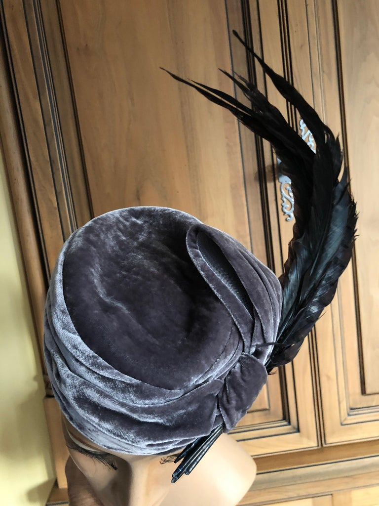 Christian Dior Haute Couture Feathered Hat by Stephen Jones for John Galliano For Sale 1