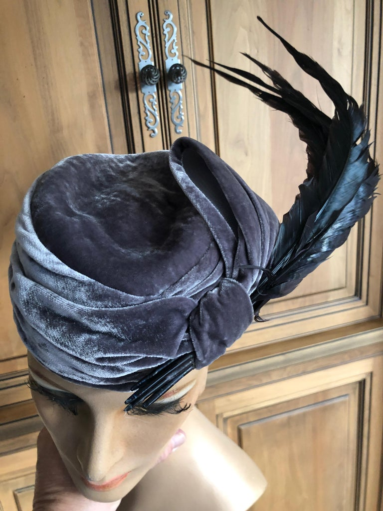Christian Dior Haute Couture Feathered Hat by Stephen Jones for John Galliano For Sale 2