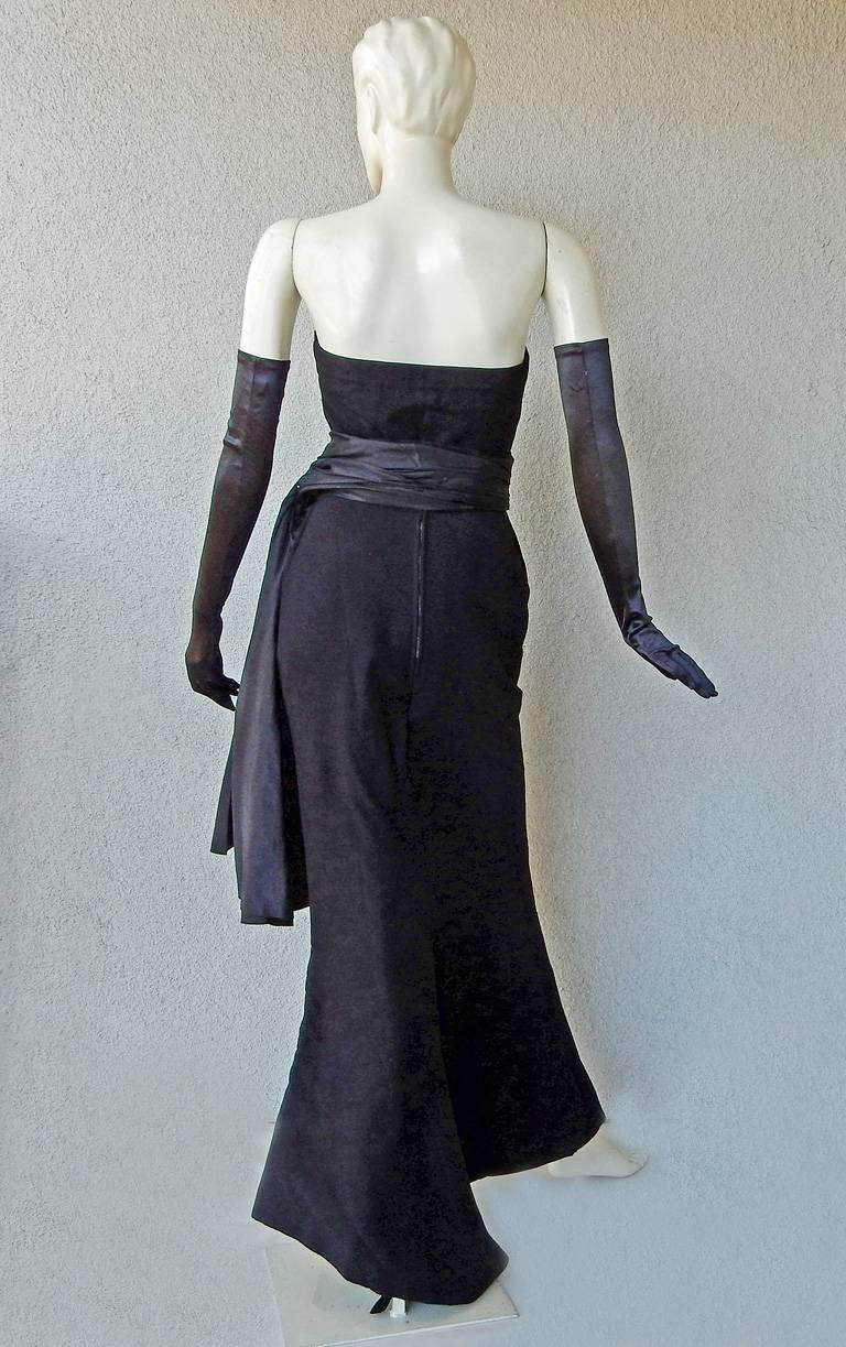 Christian Dior Haute Couture Milieu de Siecle Dinner Dress Fall/Winter 1949-1950 For Sale 1