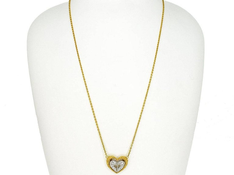 Christian dior heart motif diamonds pendant necklace 18 karat yg wg brandchristian dior nameheart motif diamonds pendant necklace material diamonds 750 aloadofball Image collections