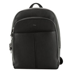 Christian Dior  Homme Double Zip Backpack Leather Medium