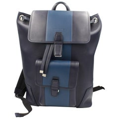 Christian Dior Homme Leather Blue Men's Backpack