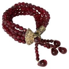 Christian Dior Hypnotic Poison Promotional Multi Strand Garnet Beads Bracelet