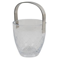 Christian Dior Ice Bucket Cooler Etched Crystal and Stainless Steel