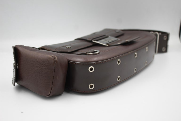 Christian Dior in brown Leather Street Chic handbag In Good Condition For Sale In Paris, FR