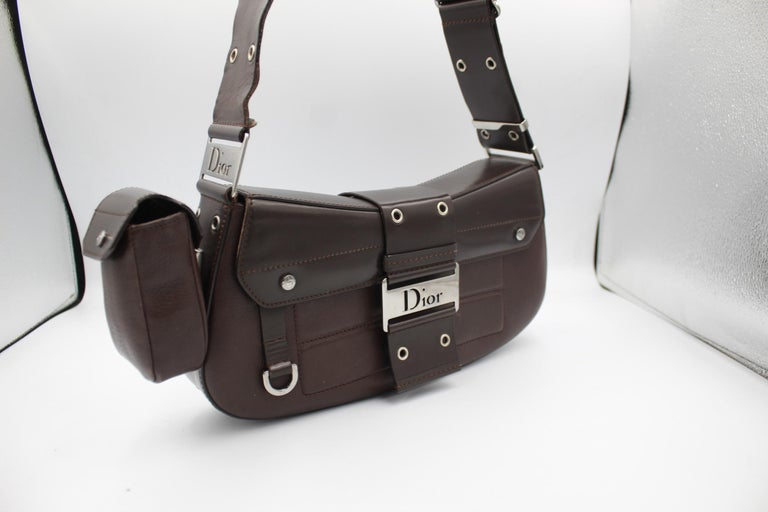 Christian Dior in brown Leather Street Chic handbag For Sale 1