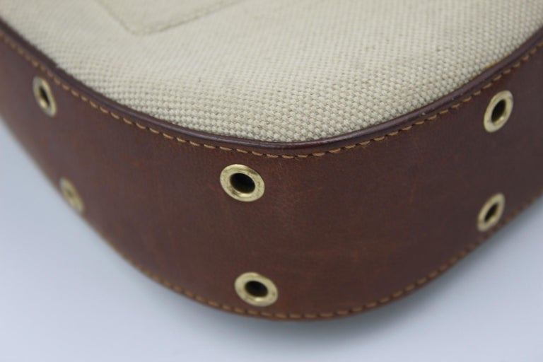 Christian Dior in Canvas and Brown Leather Street Chic handbag In Good Condition For Sale In Paris, FR