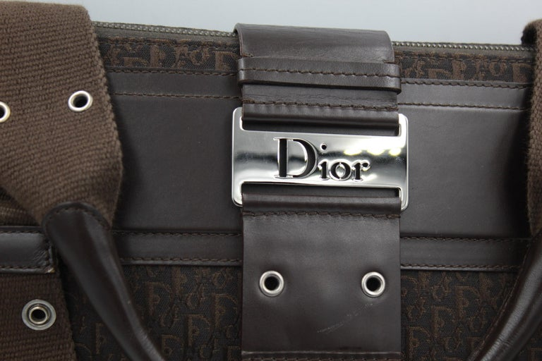 Dior by John Galliano monogram canvas travel bag ( 48h)  Good condition light signs of use in the corner.  Size 38x30