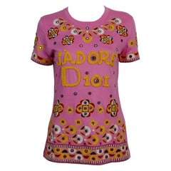 Christian Dior J'adore Dior Embroidered T-Shirt US Size 6
