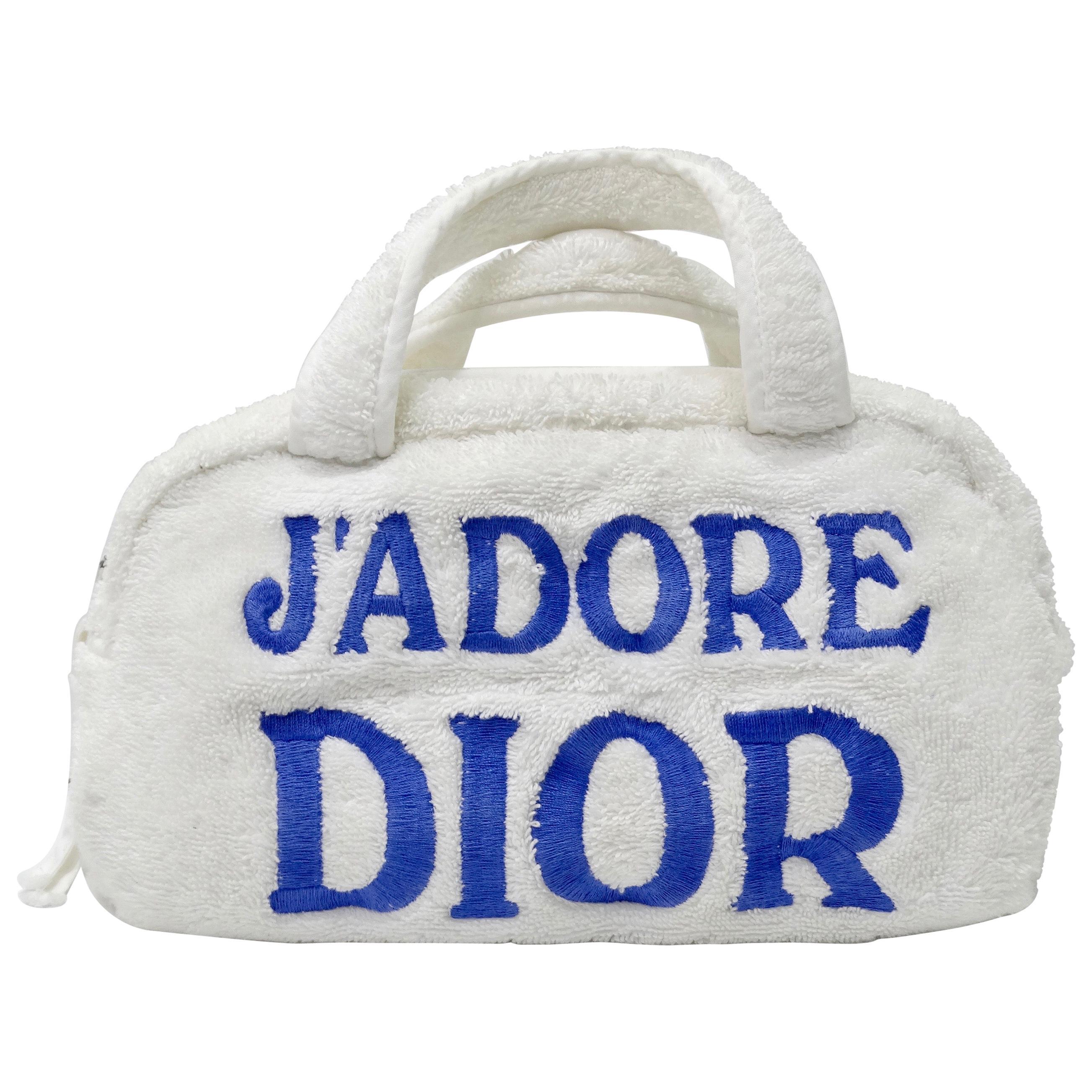 Christian Dior 'J'adore Dior' Terry Cloth Handbag
