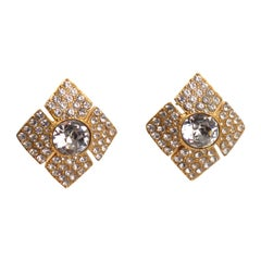 Christian Dior Jeweled Clip Earrings