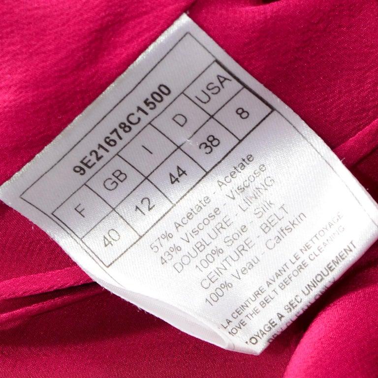 Christian Dior John Galliano Raspberry Magenta Pink 1930s Inspired Evening Dress For Sale 7