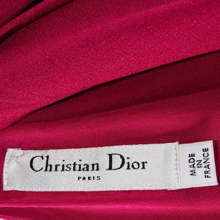 Christian Dior John Galliano Raspberry Magenta Pink 1930s Inspired Evening Dress For Sale 8
