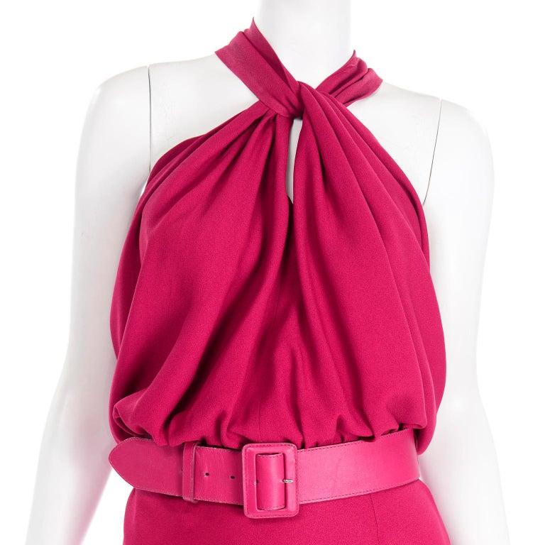 Christian Dior John Galliano Raspberry Magenta Pink 1930s Inspired Evening Dress For Sale 4