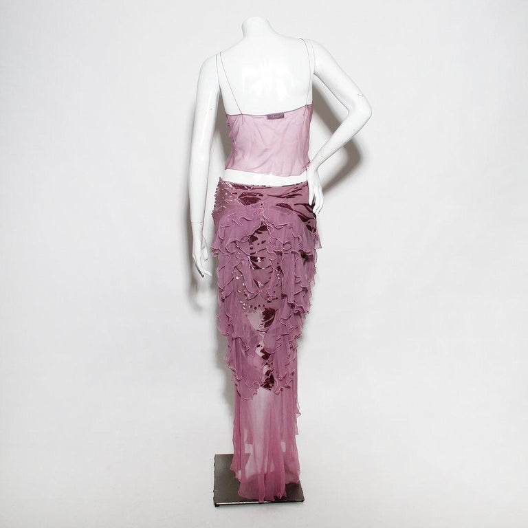 Christian Dior (John Galliano) Spring/Summer 2005 Silk Camisole & Skirt Ensemble In Good Condition For Sale In Los Angeles, CA