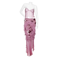 Christian Dior (John Galliano) Spring/Summer 2005 Silk Camisole & Skirt Ensemble