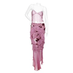 Christian Dior (John Galliano) Spring/Summer 2005 Silk Camisole & Skirt Ensemble