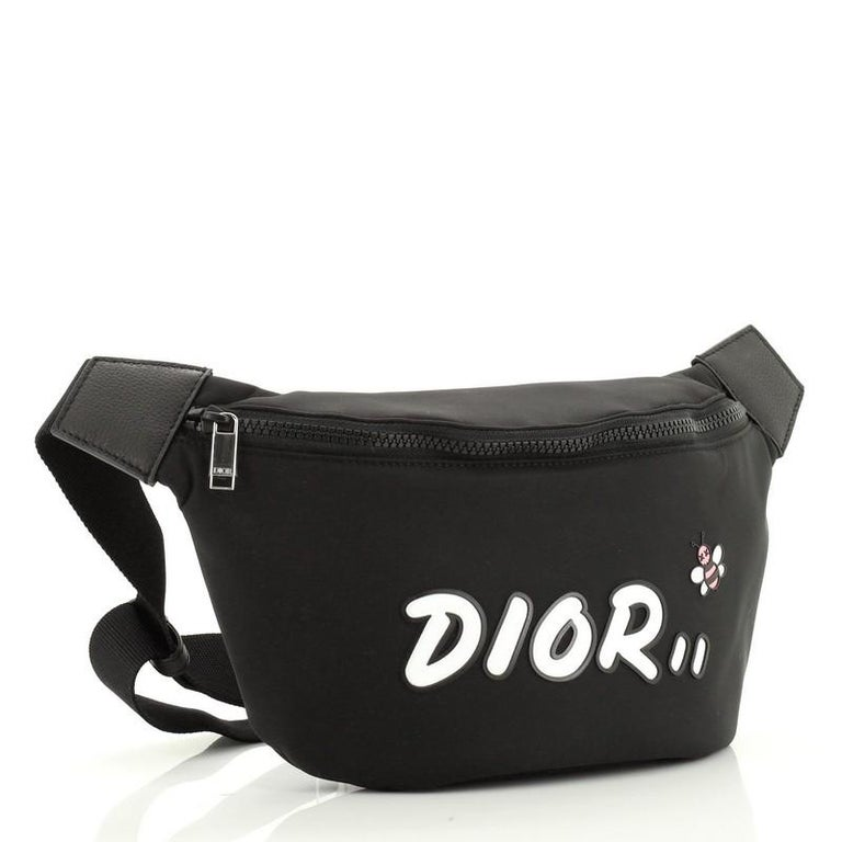 Christian Dior KAWS Waist Bag Nylon In Good Condition For Sale In New York, NY