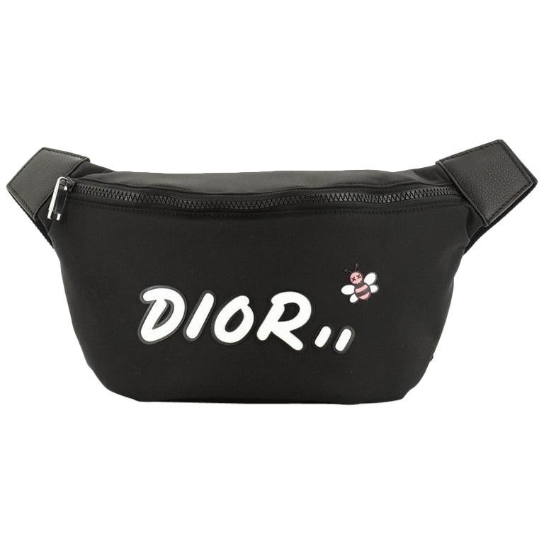Christian Dior KAWS Waist Bag Nylon For Sale