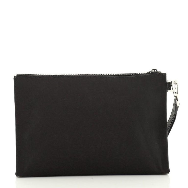 Christian Dior KAWS Wristlet Pouch Nylon In Good Condition For Sale In New York, NY