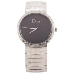 Christian Dior La D De Dior Quartz Watch Stainless Steel 33