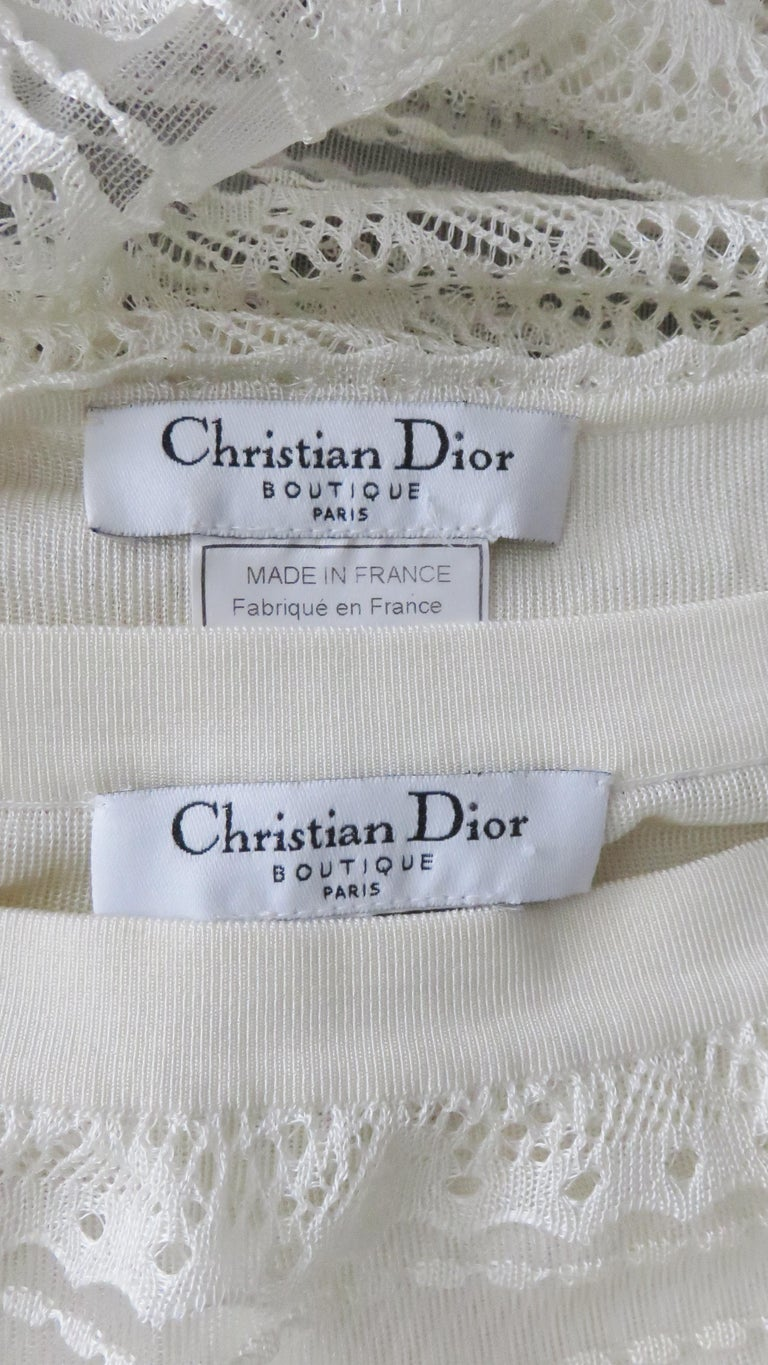 Christian Dior Lace Camisole and Skirt For Sale 11