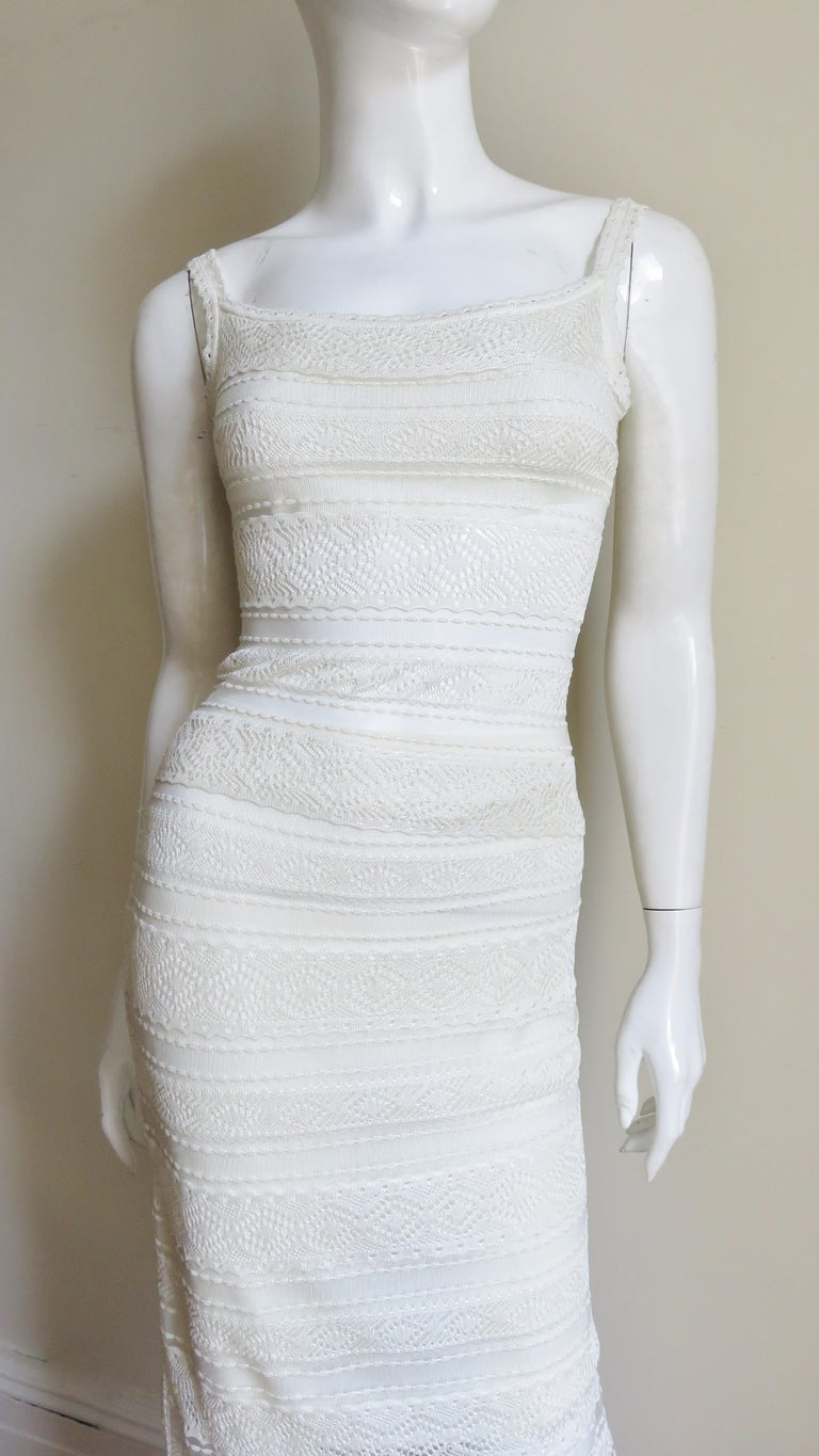 Gray Christian Dior Lace Camisole and Skirt For Sale