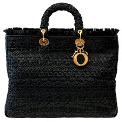 Christian Dior Lady Dior Bag Breaded Leather Limited Edition