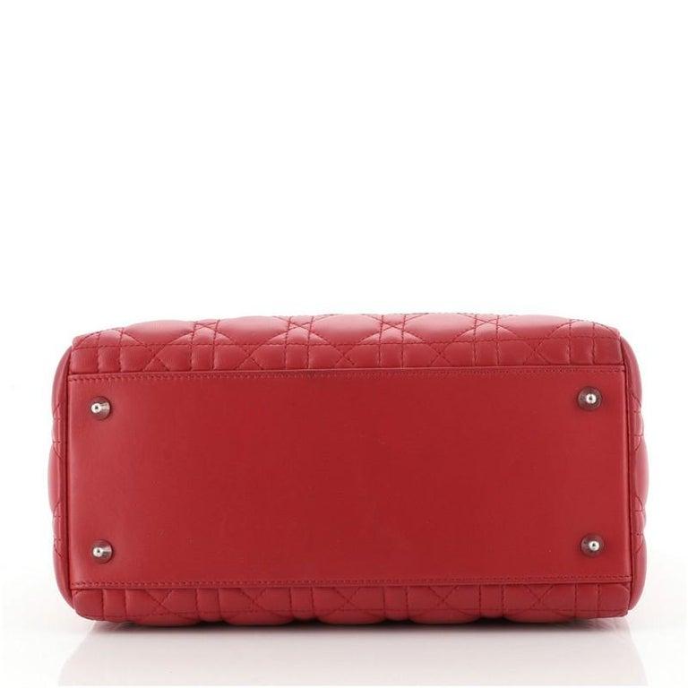 Women's or Men's Christian Dior Lady Dior Bag Cannage Quilt Lambskin Medium