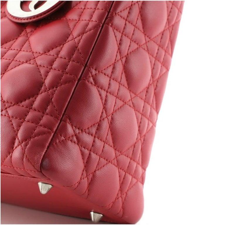 Christian Dior Lady Dior Bag Cannage Quilt Lambskin Medium 2